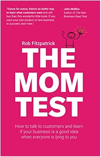 book cover the mom test